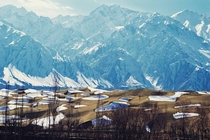 View Of Skardu Desert With Karakoram Mountains In The Background After An Unexpected Snowfall  By RgyalChan Karim