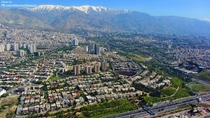 View of Tehran Iran from Milad Tower