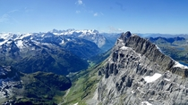 View of the Alps from Mount Titlis Switzerland