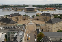 View of the Amalienborg Palace and the Copenhagen Opera House Copenhagen Denmark