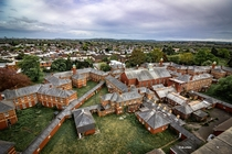 View of the asylum from the clock tower Wales