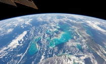 View of The Bahamas from the ISS taken January   by a member of Expedition