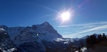 View of the Kleine Scheidegg from the Grosse Scheidegg Grindelwald