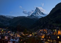 View of the Matterhorn from Zermatt Switzerland