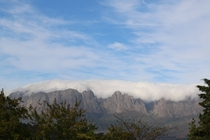 View of the mountains from my back garden in South Africa