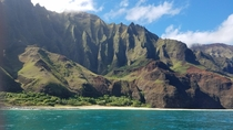 View of the Na Pali Coast HI from our skimmer Breathtaking is a word