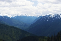 View of the Olympic Mountains from Hurricane Ridge Washington