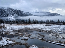 View of the Stawamus Chief and Squamish Estuary this winter Squamish British Columbia Canada OC x