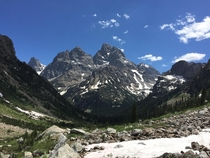 View of the Teton Range from Lake Solitude Gran Teton National Park x