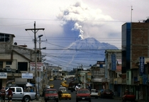 View of the Tungurahua volcano from Riobamba Ecuador on December   Ecuador issued an orange alert -- the second-highest warning level -- for towns near the Tungurahua volcano on the eve as its level of activity rose civil defense officials said