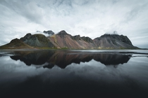 View of Vestrahorn from Stokksnes Iceland