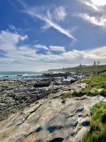View on a rocky beach in Port Elizabeth South Africa