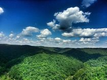View on top of Natural Bridge State Park Slade KY