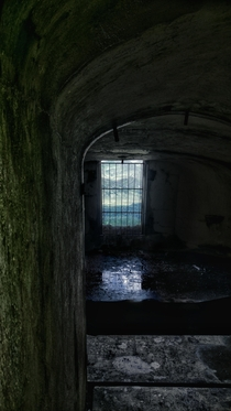 View out of an abandoned bunker of the Vallo Alpino fortification line