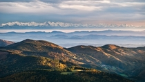 View over Baden Wrttemberg with the Alps in the background Its something out of a fantasy  photo by Andreas Wonisch
