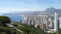 View over Benidorm Costa Blanca  x-post rSpainpics