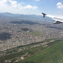 View over northern Mexico City