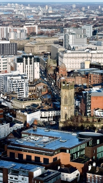 View over Renshaw Street Liverpool UK