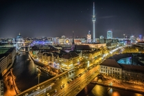 View over the River Spree to Nikolaiviertel and Alexanderplatz Berlin Germany Photo credit to Stefan Widua