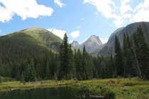 View toward Vestal Basin from Elk Creek in the San Juans of Colorado USA