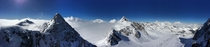 View while Snowboarding at Stubaier Gletscher near Innsbruck