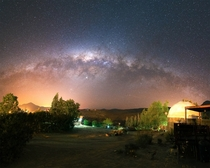 Viewing the Milky Way from a small village in Chile