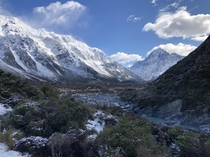 Views during Hooker Valley Track Mount Cook New-Zealand