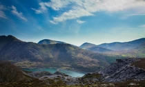 Views From Dinorwig Quarry Llanberis North Wales