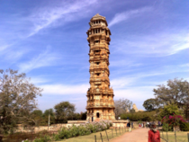 Vijaya Stambha Tower of Victory Chittorgarh INDIA constructed in  by Maharana Kumbha to commemorate his victory over Sultan of Malwa This  ft tall monument is dedicated to lord Vishnu and was a work of architect Jaita and his  sons whose names are carved