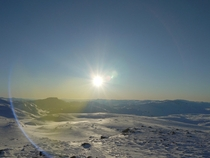 Vikafjellet Norway TODAY I normally consider lens flares a technical fault but here it works