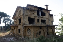Villa destroyed during Lebanons civil war Still abandoned  years later