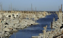 Villa Epecuen Argentina was flooded in  the waters started receding a few years ago