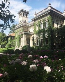 Villa Erba a th century villa with a Neoclassical facade built on the shores of Lake Como now used as a convention and exhibition space Lombardy Italy
