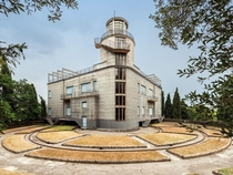 Villa Girasole is a house that rotates to follow the sun as it moves It was built between  and  in Italy and is powered by  motors with a total of  hp