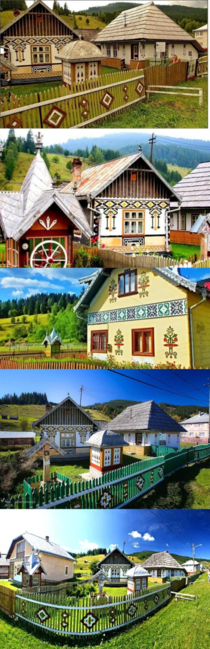 Village in Romania where its mandatory to keep the tradition of painting houses
