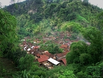 Village in the hills of eastern Java