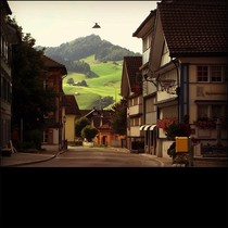 village of Appenzell in St Gallen Switzerland x