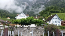 Village of Quinten on Walensee Switzerland