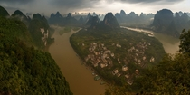 Village on Li River