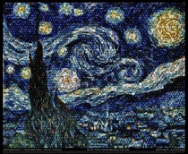 Vincent van Goghs Starry Night made from about  Hubble images