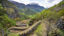 Vindhelleveien in Borgund Norway - part of the road between Oslo and Bergen from -