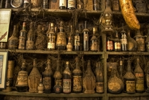 Vintage bottles untouchedundusted for over  years Taverna Tripa Greece