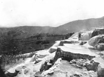 Vintage Earthporn Mammoth Hot Springs Wyoming from the Hayden expedition of