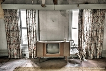 Vintage TV set left behind in a time capsule abandoned home in Quinte West