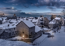 Visby in winter Sweden