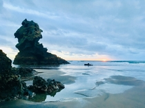 Visisted my friends in Karekare Beach NZ and they took me on a walk up to Mercer Bay caves The scenery is truly amazing here Some OC from the walk