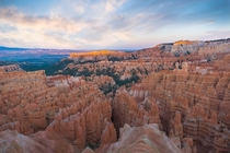 Visited a bunch of national parks to kick off the th of July Heres Bryce Canyon National Park during the last couple minutes of golden hour