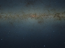 VISTA infrared mosaic of the central Milky Way  Various sizes in comments
