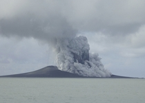 Volcanic Eruption In Tonga Creates New Island In this photo taken Jan   and released by New Zealands Ministry of Foreign Affairs and Trade a volcano erupts near Tonga in the South Pacific Ocean