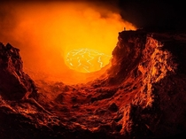 Volcanic Selfie Kilauea Volcanos Halemaumau Crater in Hawaii Volcanoes National Park Photograph by Andrew Hara